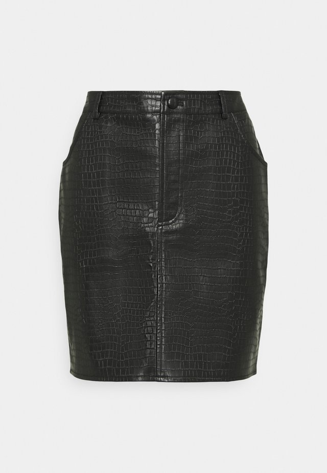 CROC MINI SKIRT - Minirok - black