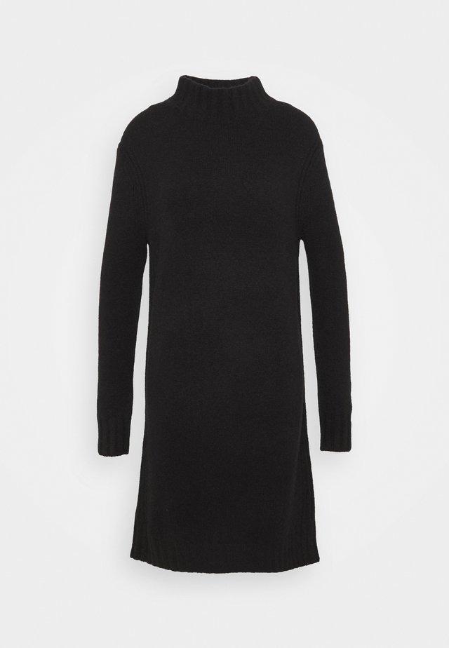 MOCKNECK SWEATER DRESS - Strickkleid - black