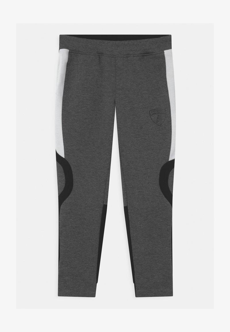 Automobili Lamborghini Kidswear - CONTRAST INSERT - Tracksuit bottoms - grey estoque