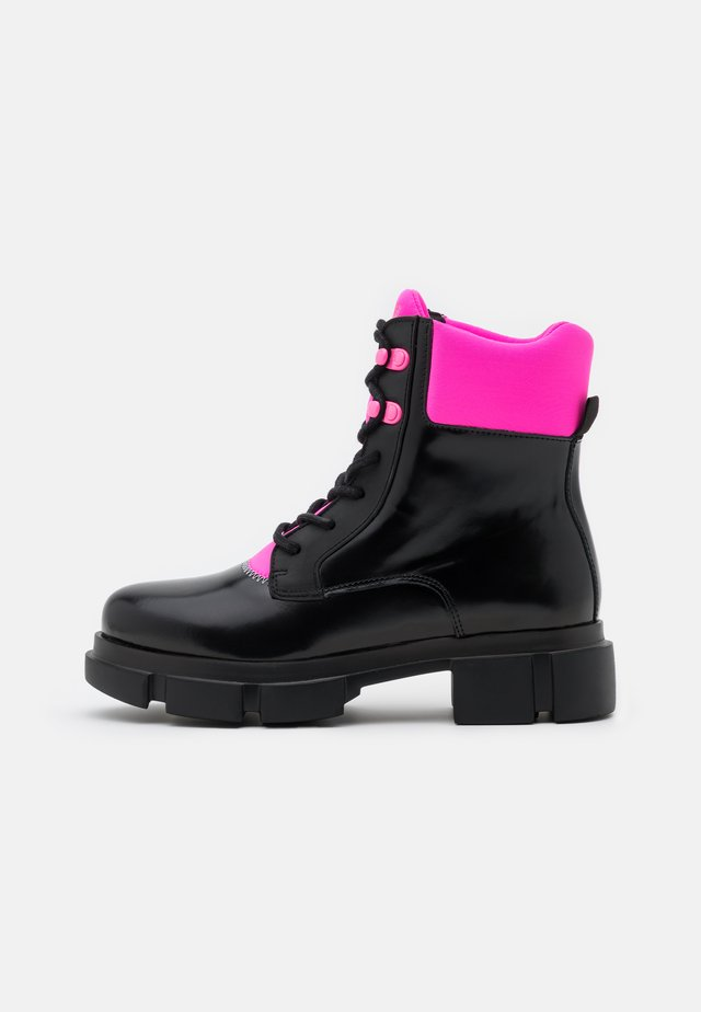 VELAR BOOT  - Bottines à plateau - black