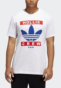 adidas Originals - RUN DMC TEE - T-shirt z nadrukiem - white /black /scarlet red - 5