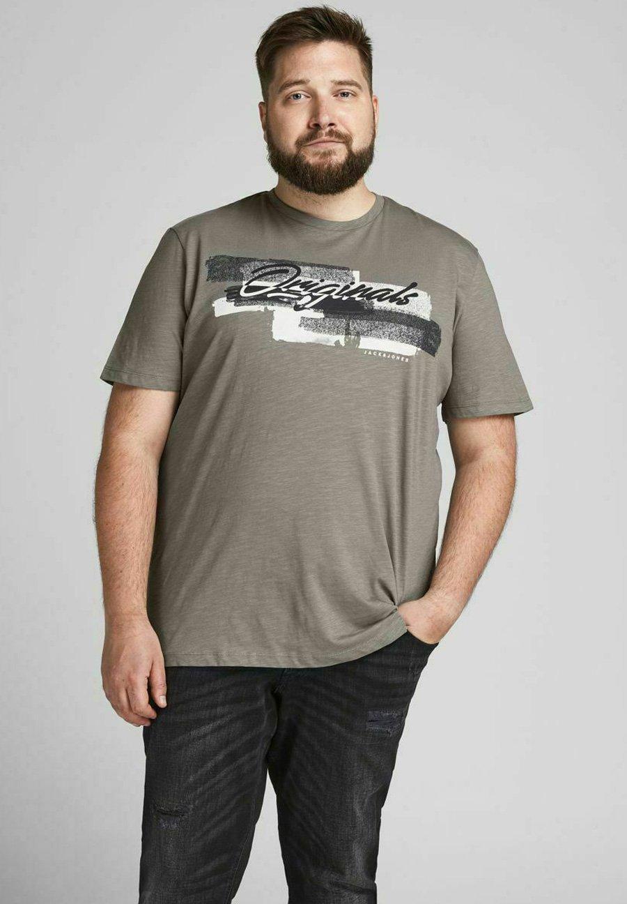 Uomo JORCALIBRUSH TEE CREW NECK - T-shirt con stampa
