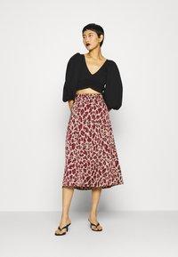 Fabienne Chapot - CLAIRE SKIRT - A-line skirt - oatmeal/parrot purpl - 1