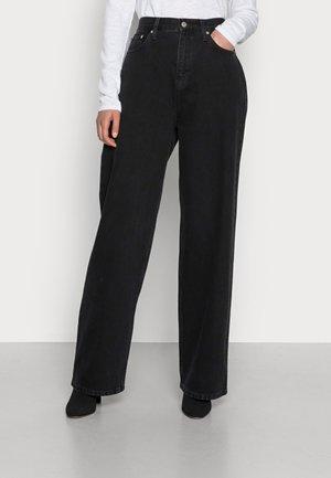 RELAXED - Straight leg jeans - denim black
