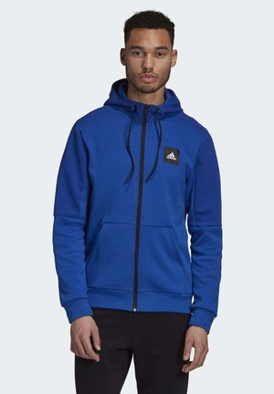 MUST HAVES FULL-ZIP STADIUM HOODIE - Bluza rozpinana - blue