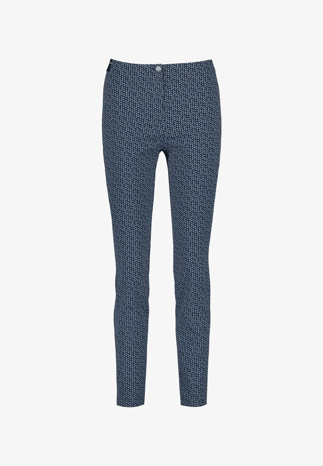 Broek - dark navy/off white/vivid blue