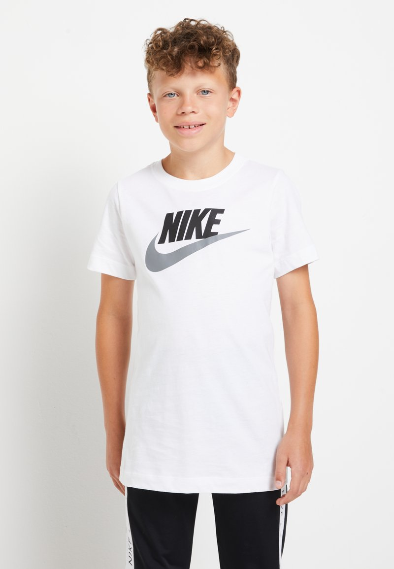 Nike Sportswear - FUTURA ICON - T-shirt print - white/smoke grey
