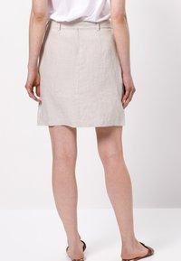 zero - MIT GÜRTEL - A-line skirt - beige - 2