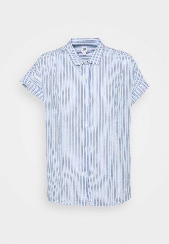 DRAPEY - Button-down blouse - blue