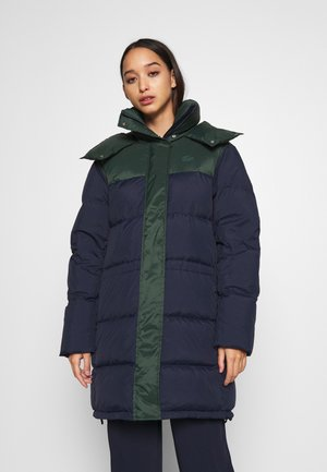 BOXY PUFFER - Down coat - navy blue/sinople