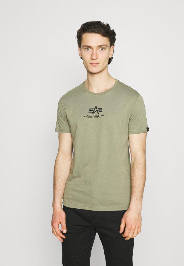 BASIC - T-shirt print - oliv