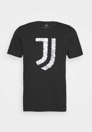 JUVENTUS FOOTBALL SHORT SLEEVE GRAPHIC TEE - Equipación de clubes - black/white