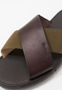 Barbour - ADAM  - Pantofle - olive/mocha - 5