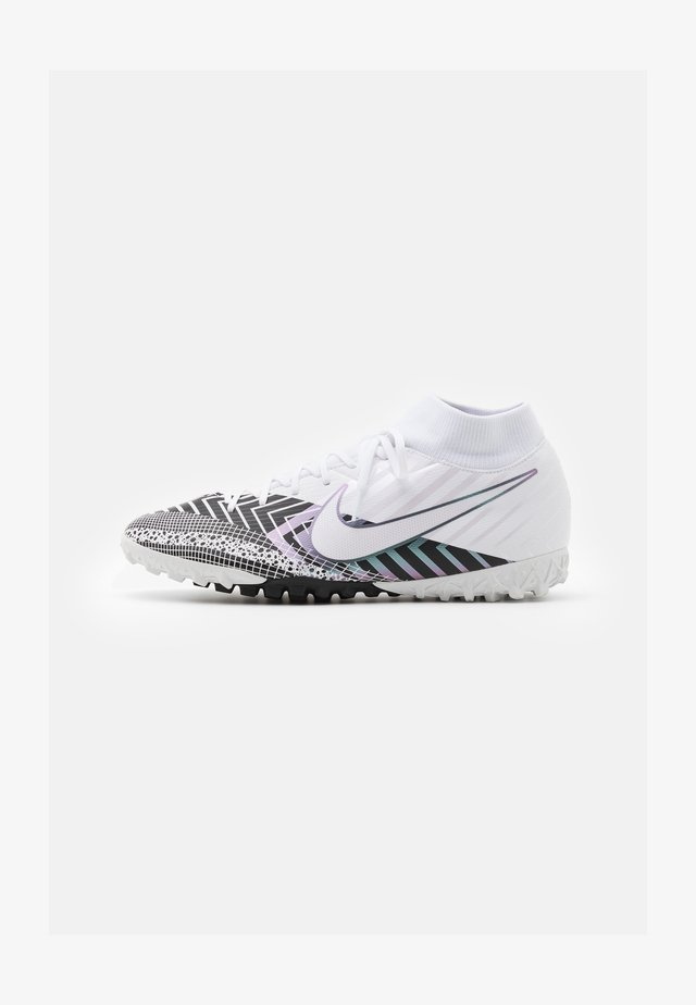 MERCURIAL 7 ACADEMY MDS TF - Astro turf trainers - white/black