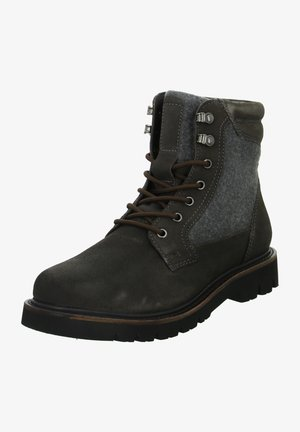 Lace-up ankle boots - grau - braun