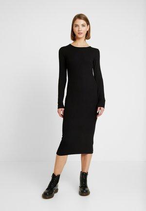 BASIC - Sukienka z dżerseju - black