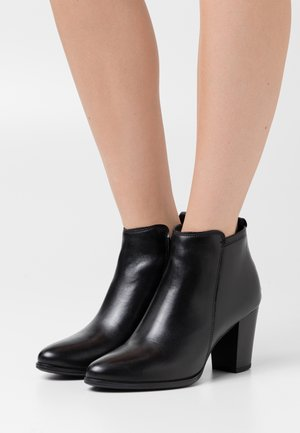 LEATHER - Botines bajos - black