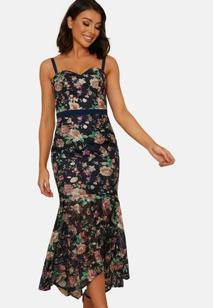 CAMI STRAP BODYCON RUFFLE HEM - Maxi dress - dark blue