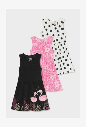 3 PACK - Day dress - black/white