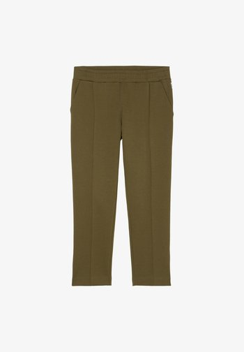 TRACK PANTS CROPPED - Trousers - burnished logs