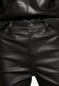 KARL LAGERFELD - LEATHER BIKER PANTS - Pantalón de cuero - black - 4