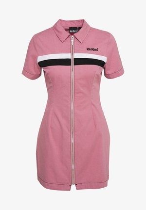 CHEST PANELLED FITTED DRESS - Shirt dress - pink