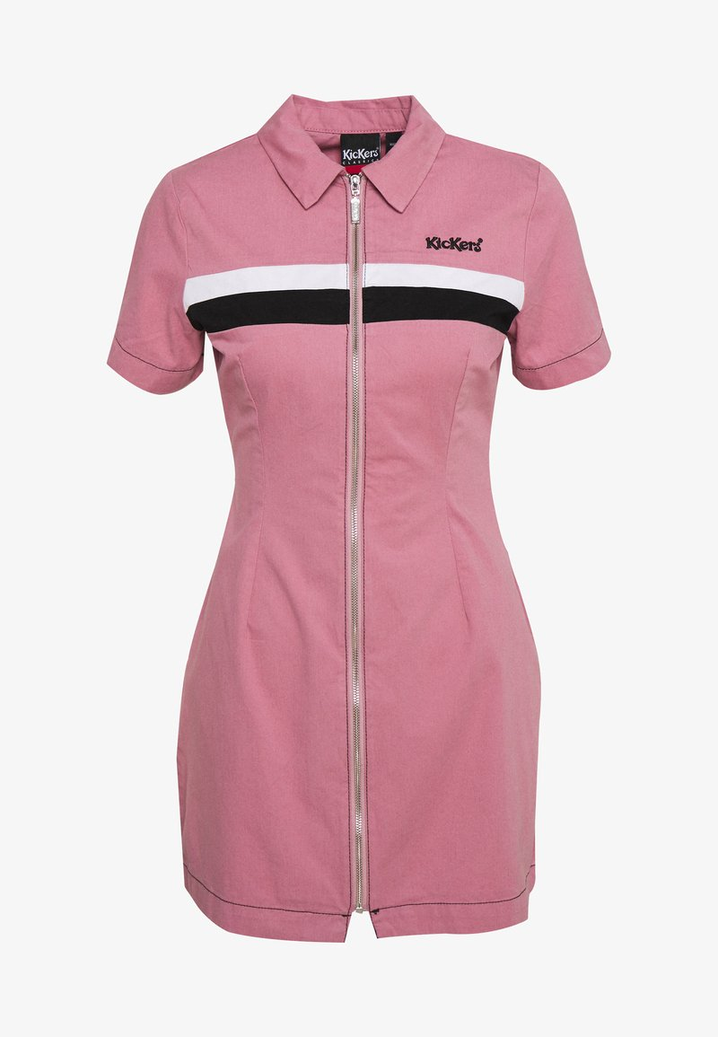 Kickers Classics - CHEST PANELLED FITTED DRESS - Shirt dress - pink