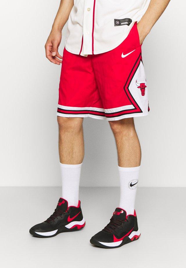 NBA CHICAGO BULLS SHORT - Squadra - university red/white/black