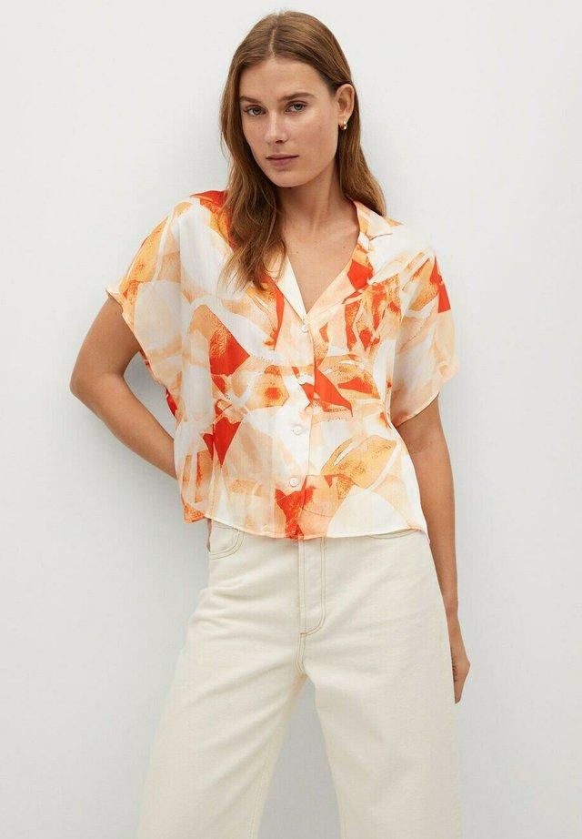 BRUSH-H - Button-down blouse - orange