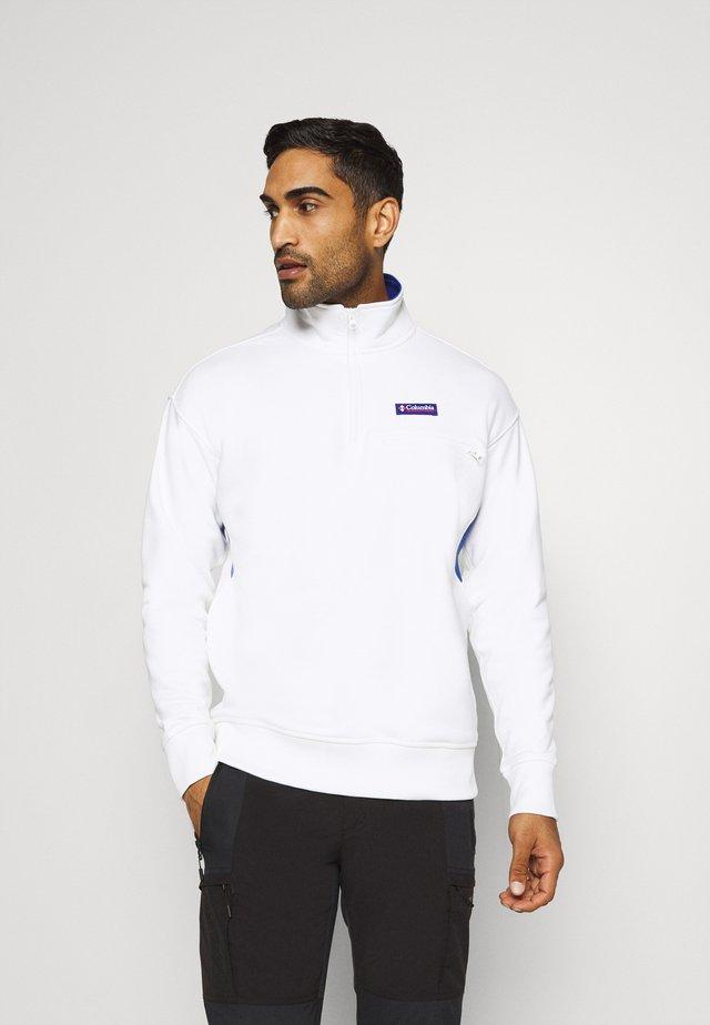 BUGA QUARTER ZIP - Sweatshirt - white/lapis blue