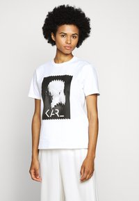 KARL LAGERFELD - LEGEND - Print T-shirt - white - 0