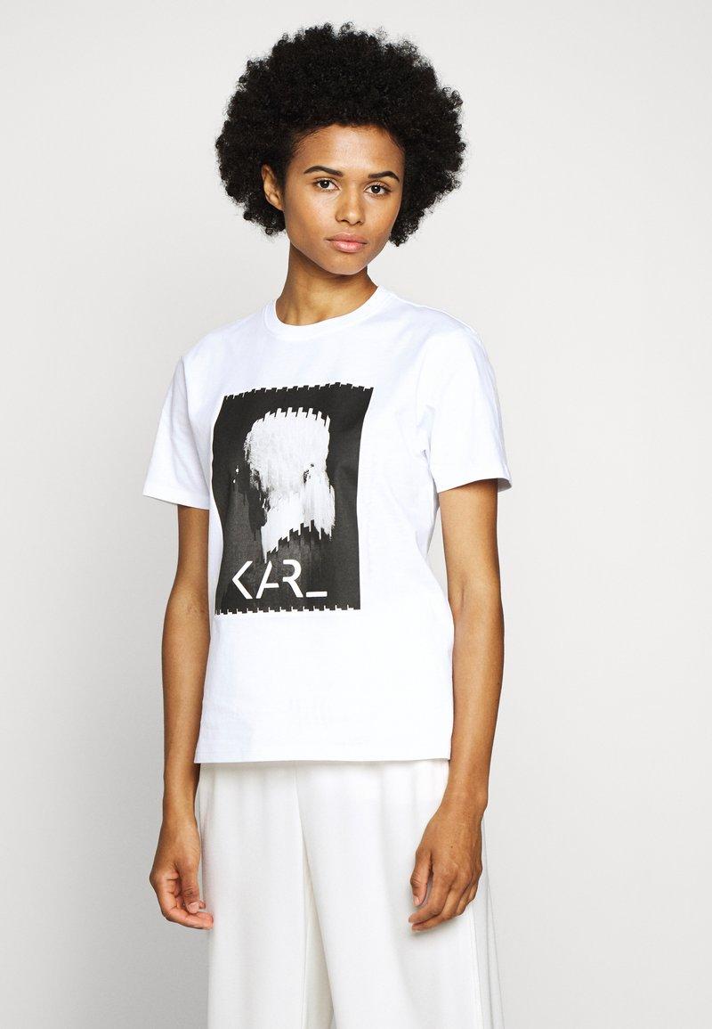KARL LAGERFELD - LEGEND - Print T-shirt - white