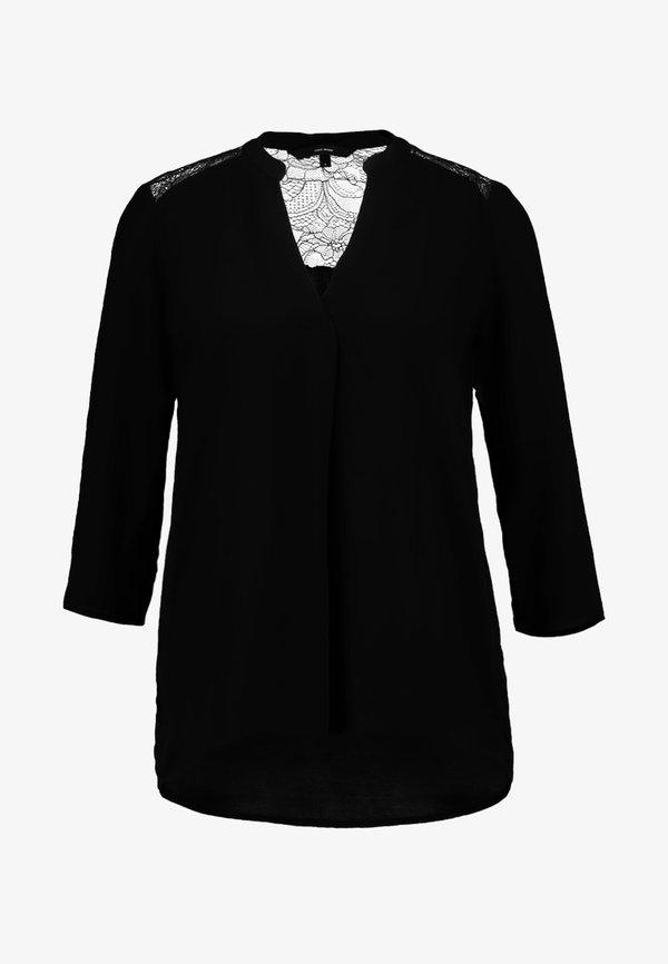 Vero Moda VMBOCA 3/4 BLOUSE - Bluzka - black/czarny ILWW