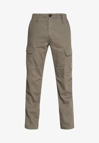 WASHED STRAIGHT - Cargo trousers - grey