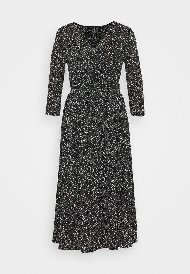 ONLPELLA WRAP DRESS - Vestito lungo - black