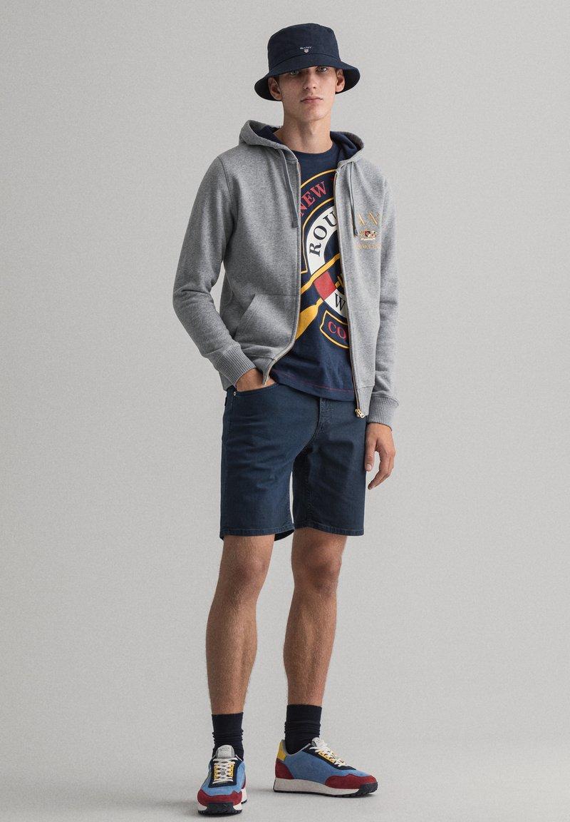 GANT - Zip-up sweatshirt - grey melange