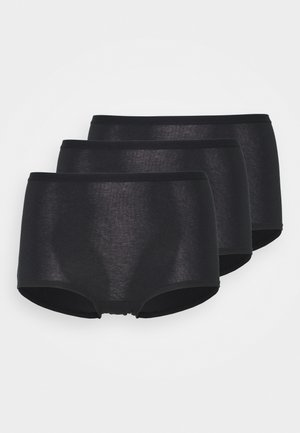 CARIN HIGH 3 PACK - Panties - black