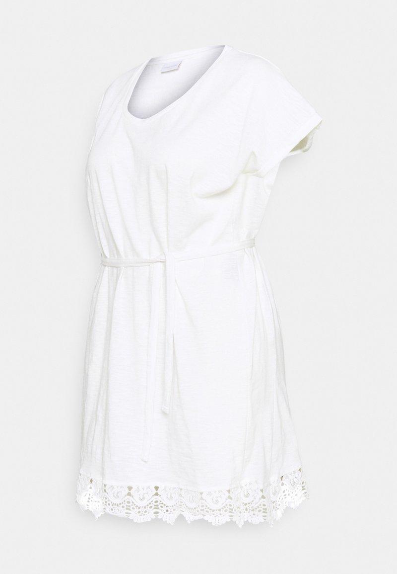 Mamalicious Curve - MLALETTA - Žerzejové šaty - snow white