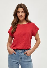 Minus - LETI - Basic T-shirt - berry red - 0