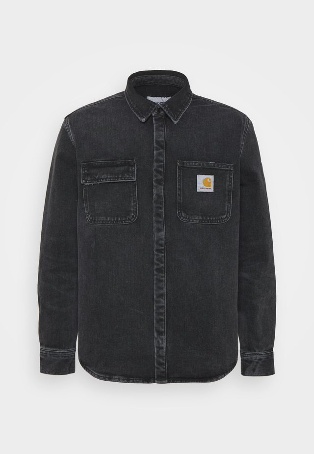 SALINAC JAC MAITLAND - Camicia - black middle worn wash