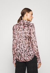 Milly - LEOPARD STRIPE BUTTON UP - Button-down blouse - pink multi - 2