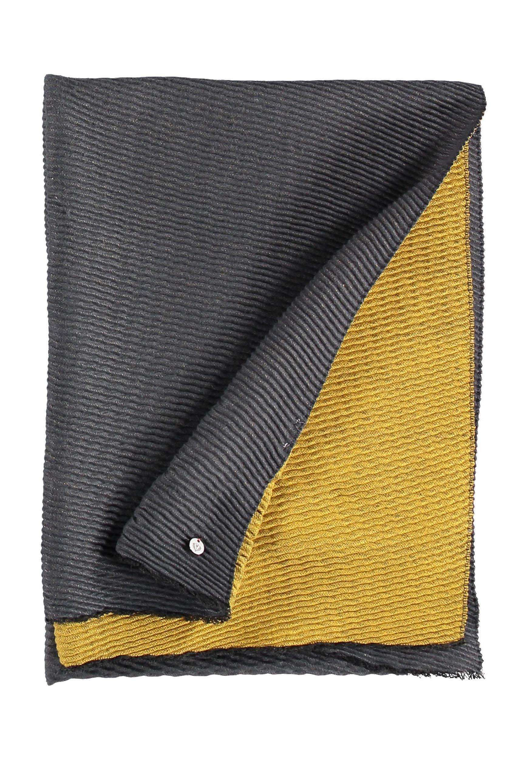 Fraas Schal - Grey/yellow/grau