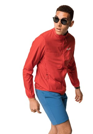 Soft shell jacket - lava red