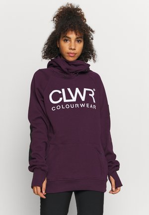 BOWL HOOD - Sweatshirt - deep red