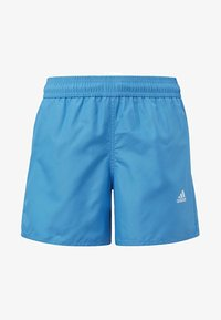 adidas Performance - BADGE OF SPORT PRIMEGREEN REGULAR SWIM SHORTS - Swimming shorts - blue - 0