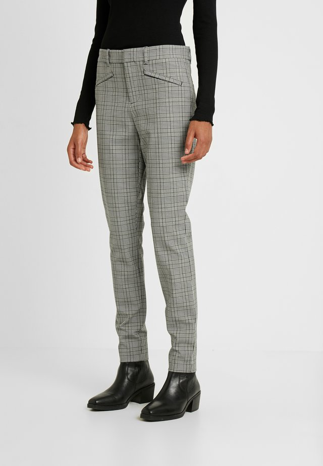 ANKLE PLAID TECHY - Trousers - black