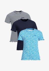 WE Fashion - 3 PACK - Print T-shirt - blue - 3