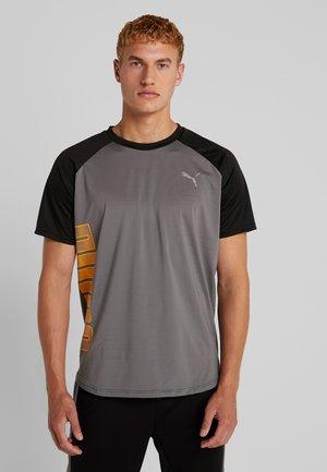 COLLECTIVE LOUD TEE - T-Shirt print - castlerock/black