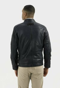 camel active - Leather jacket - navy - 2