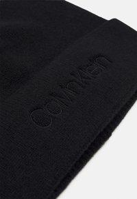 Calvin Klein - NATURAL BEANIE UNISEX - Pipo - black - 2
